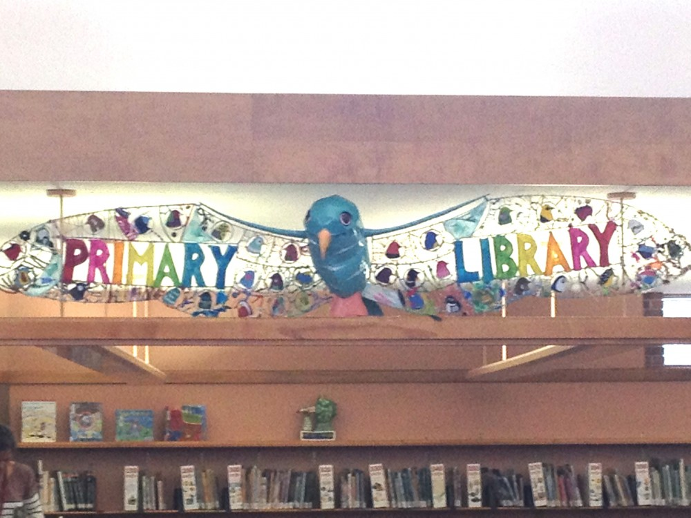 Prairie School's New Library Sign