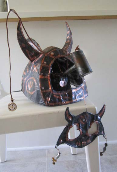 Reid's Steampunk Helmut with Mechanical Mask